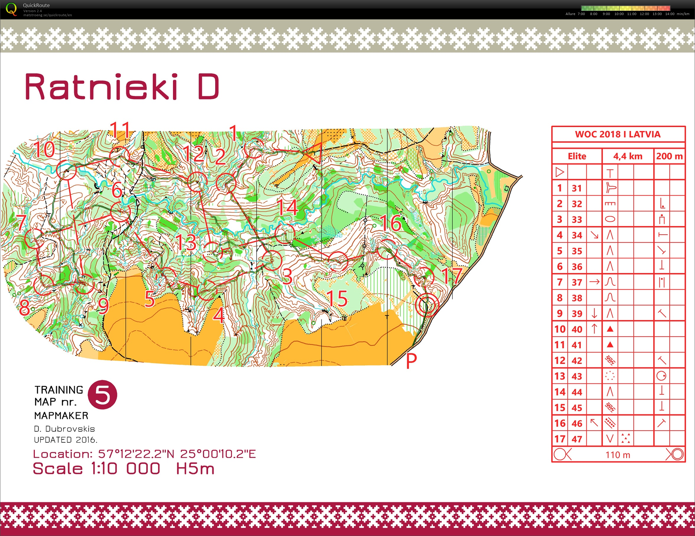 PrépaWOC 2018 Latvia // Slopes (SWE) (05/07/2018)
