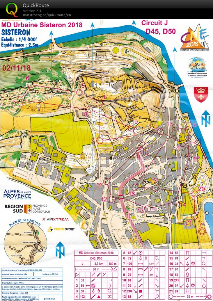 Sprint open Sisteron (02/11/2018)